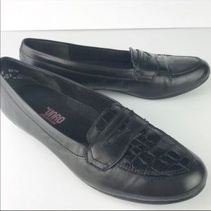 Munro | Carrie Crocodile Leather Penny Loafers 8N